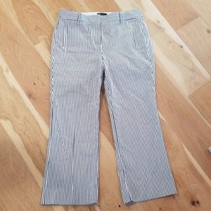 J.Crew striped teddie dress pant